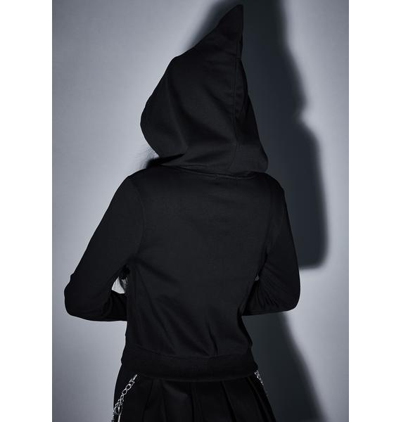 Widow Demon Reaper Zip-Up Hoodie