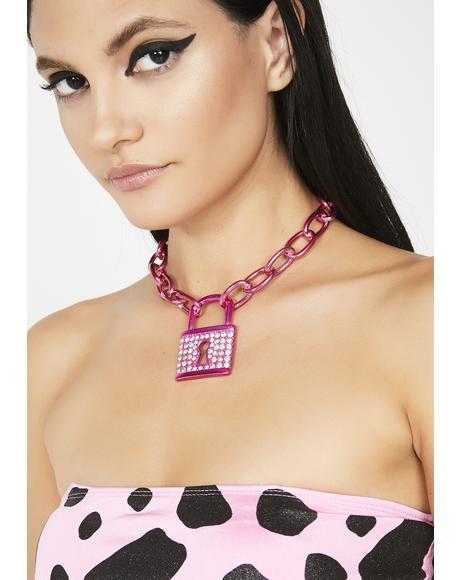 Sweet Mystery Lock Necklace