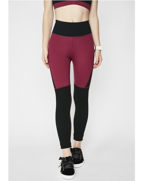 Merlot Over It Leggings