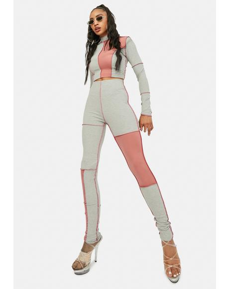 Track Legend Reverse Stitch Leggings Set