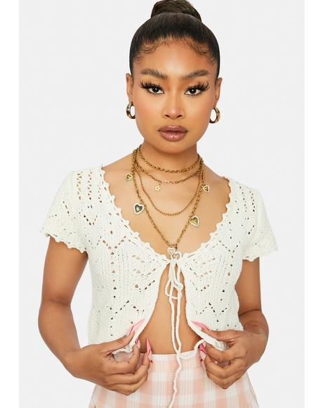 Collective Mood Crochet Crop Top