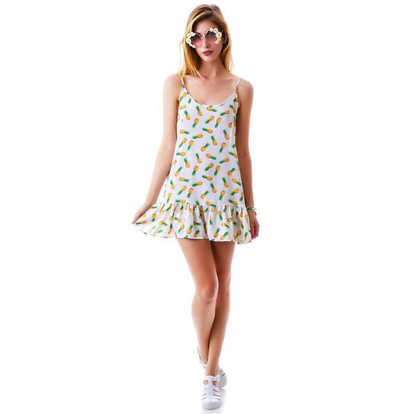 Pinapple Express Ruffle Dress