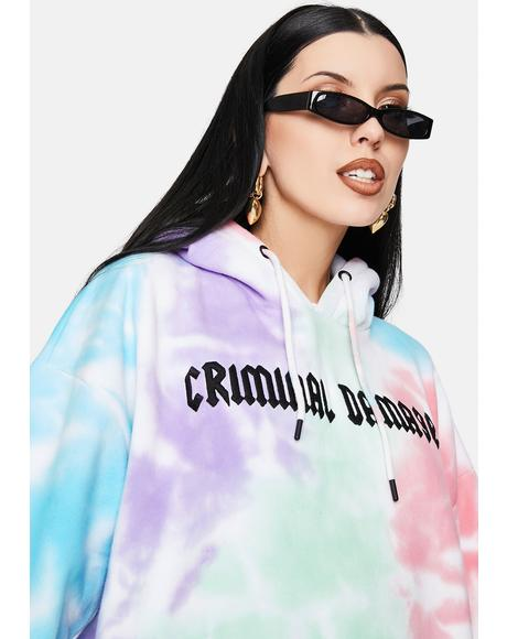 Tie Dye Embroidered Logo Hoodie