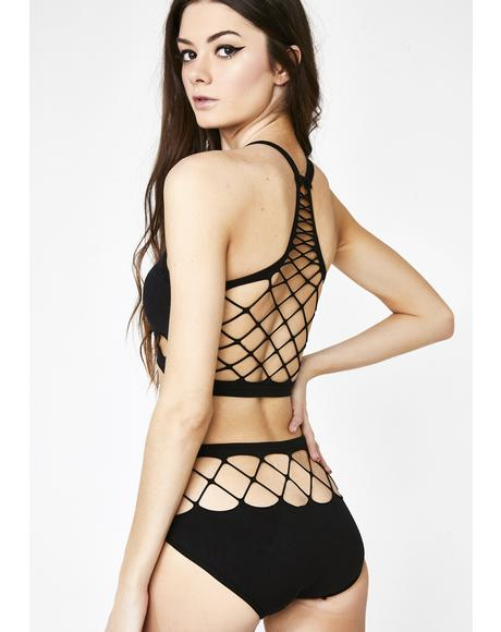 Obey Me Fishnet Set