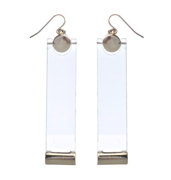 Clear Path Lucite Earrings