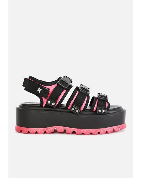 Pink Asteroid Matrix Platform Sandals