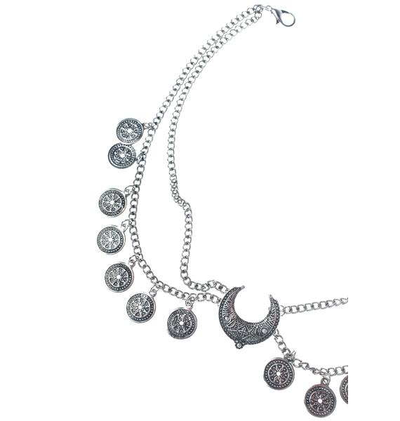 Moon Medallion Choker