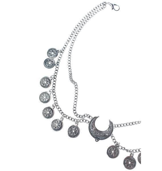 Moon Medallion Choker