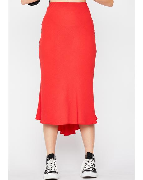Fire Frenemies Til The End Midi Skirt