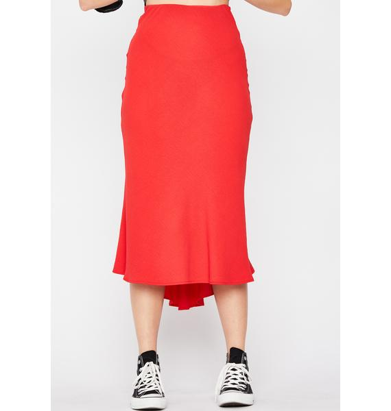 Fire Frenemies Til The End Midi Skirt
