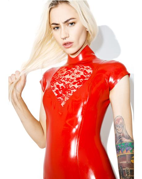 Lace Heart Mini Dress