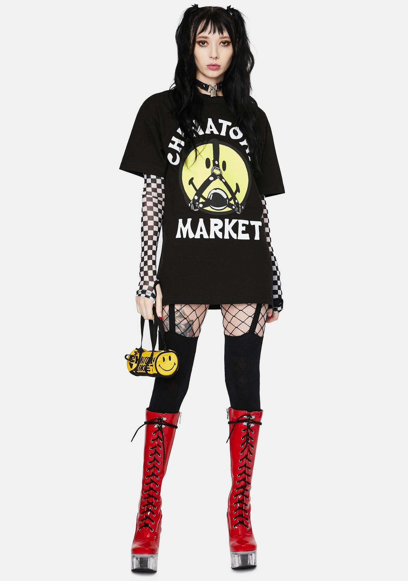 CHINATOWN MARKET Smiley Ball Gag Graphic Tee