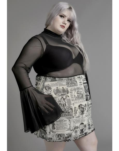 Infinite Unfortunate Events Mesh Skirt