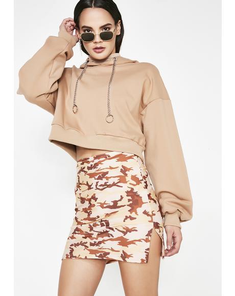 Sand Camo Mini Skirt