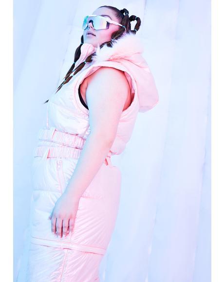 Sweet Divine Aurora Beam Metallic Snowsuit