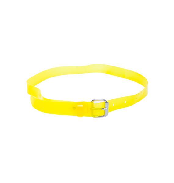 Cheap Monday Clear Rubber Belt