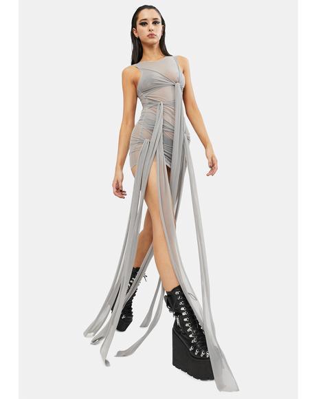 Good Vibing Strappy Mesh Dress