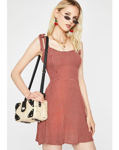Hot Date Night Tonight Gingham Dress