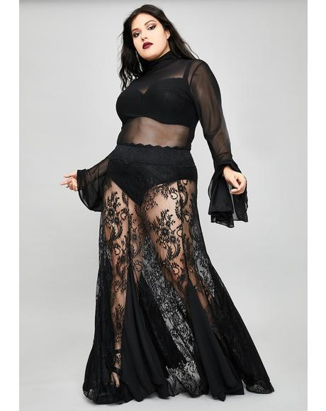 I'm Shrouded In Mystery Lace Skirt