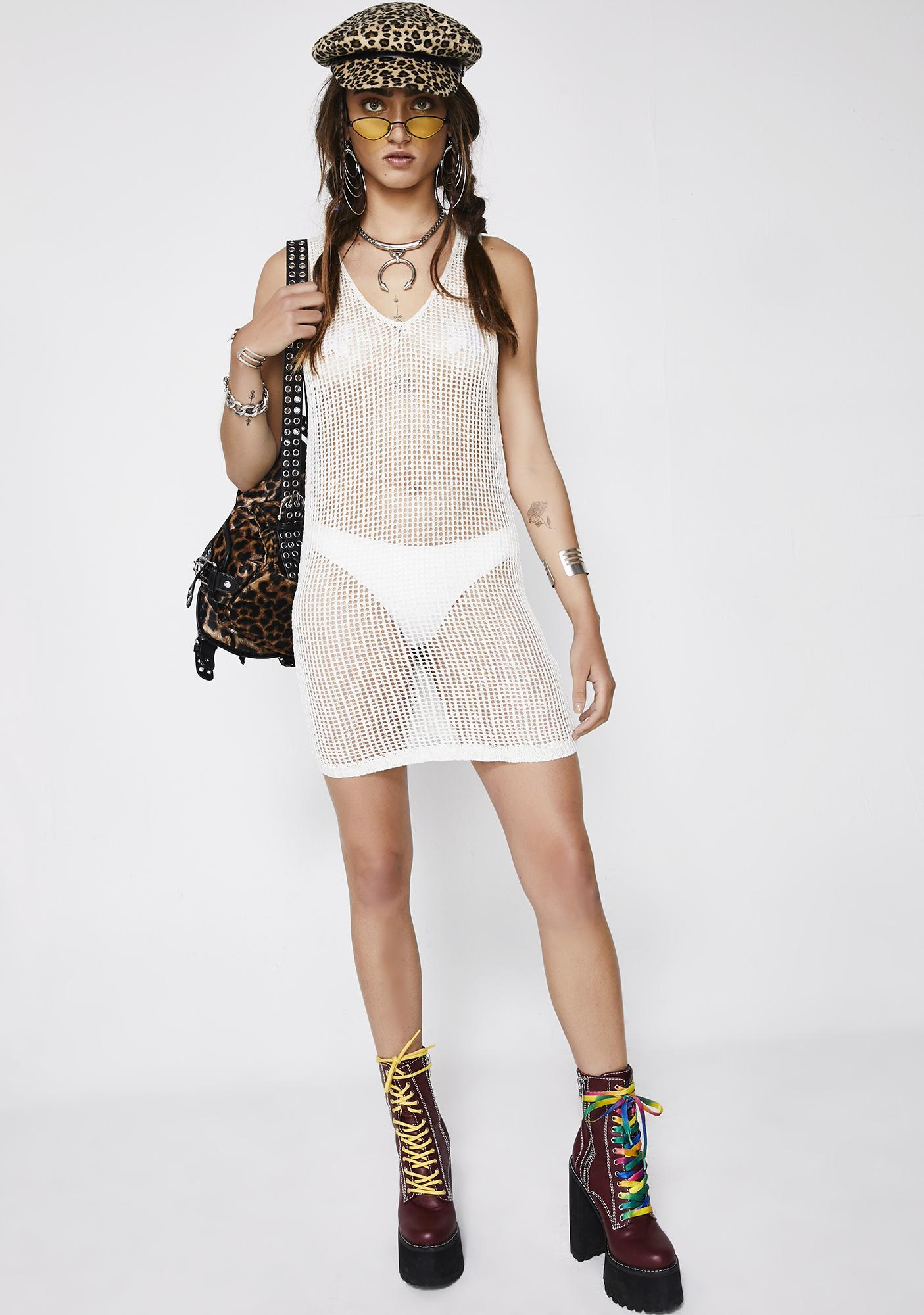 Chill Sheer Instincts Mini Dress