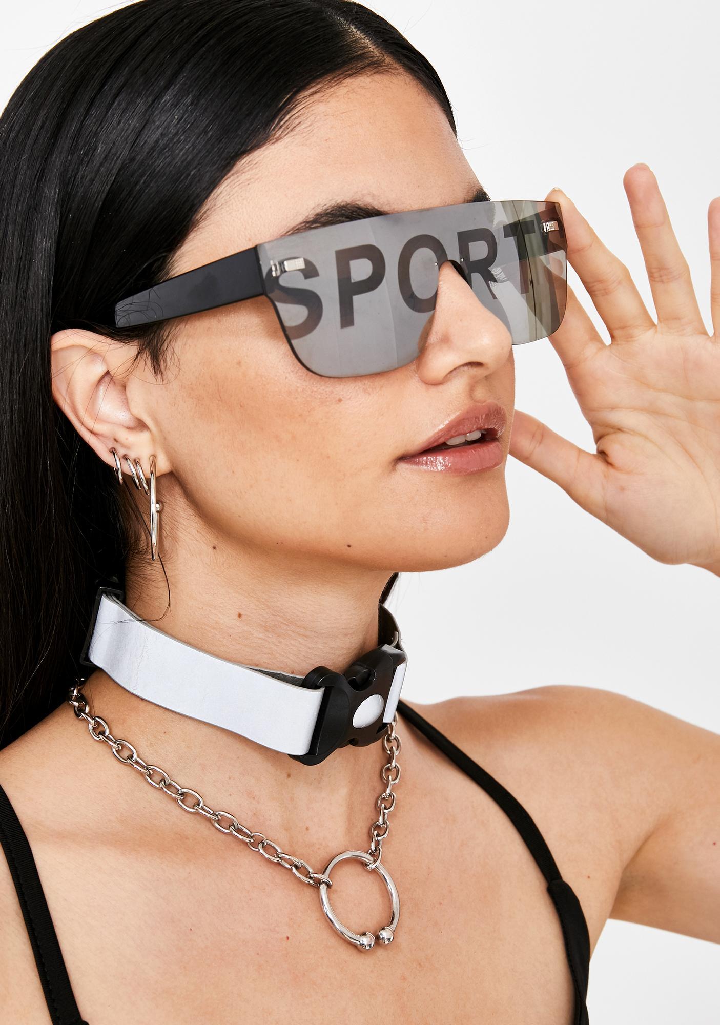 Chrome Major Leaguez Oversized Sunglasses