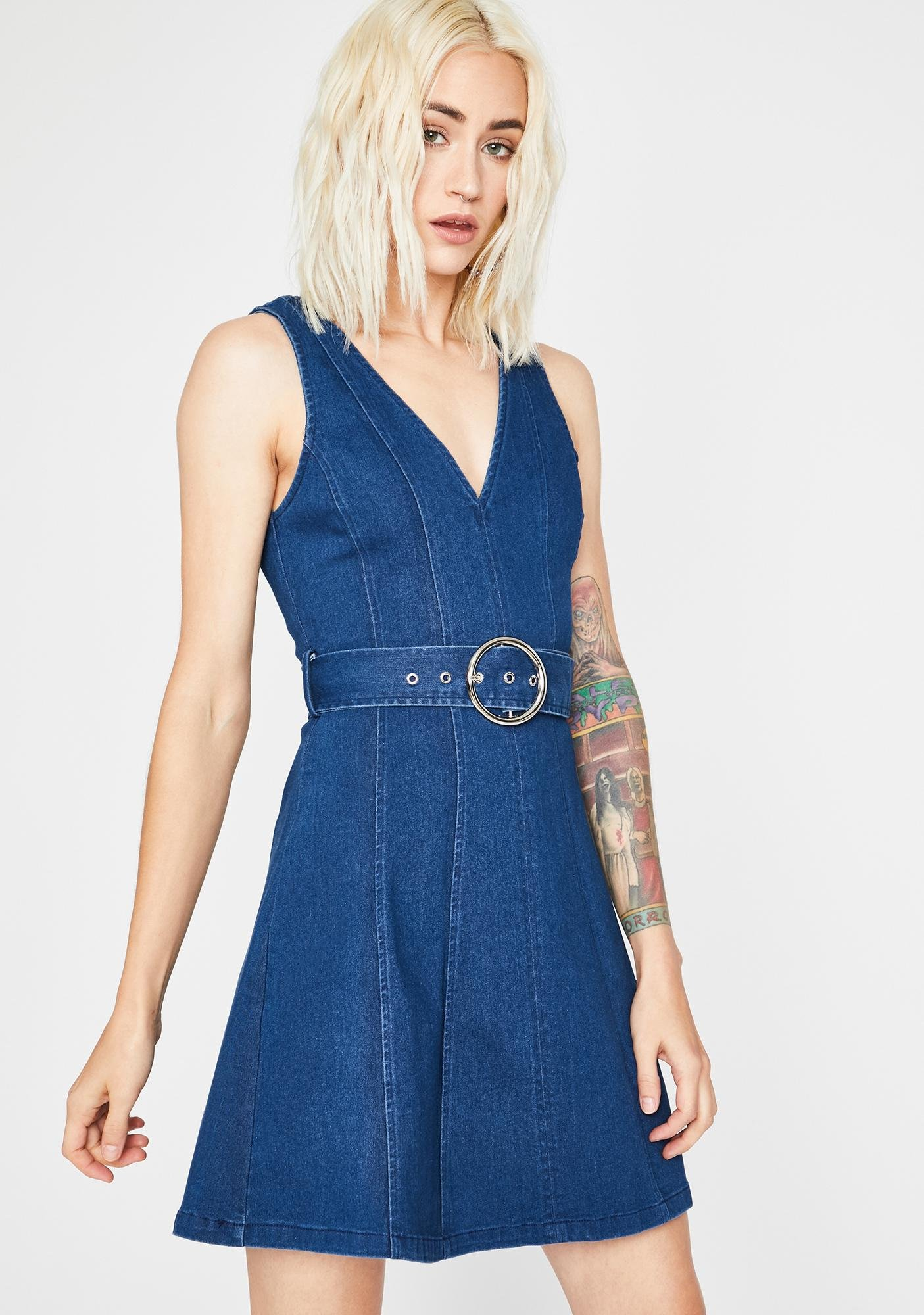 Servin' Babe Lewks Denim Dress