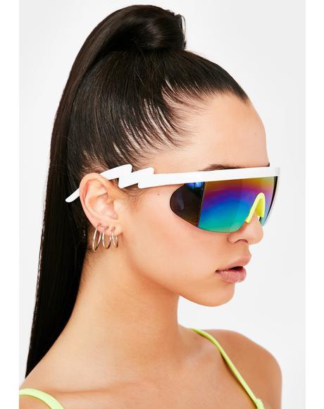 Sour Major Drip Shield Sunglasses