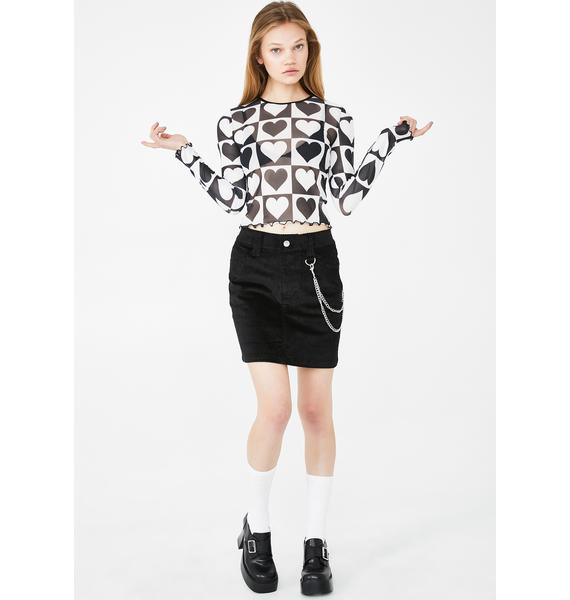 dELiA*s by Dolls Kill Brain Drain Mini Skirt