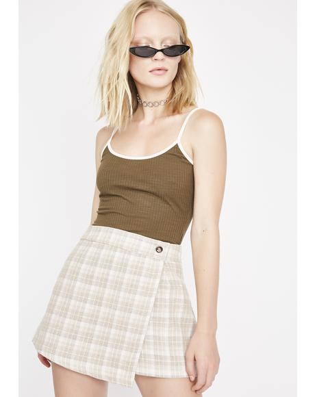 Dope Enough Plaid Skirt