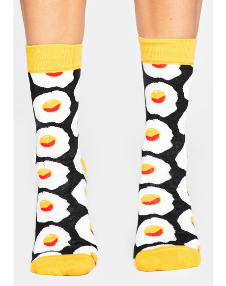 Eggs-cellent Crew Socks