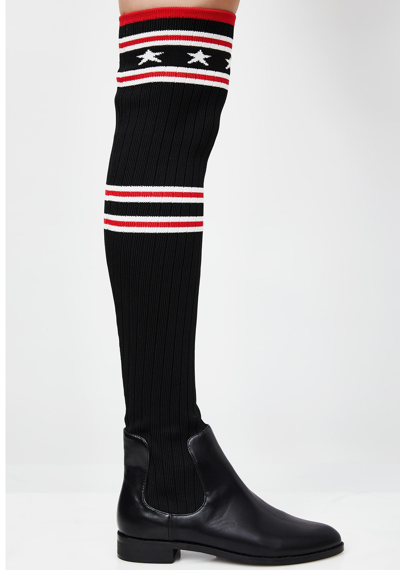 Class Star Sock Boots