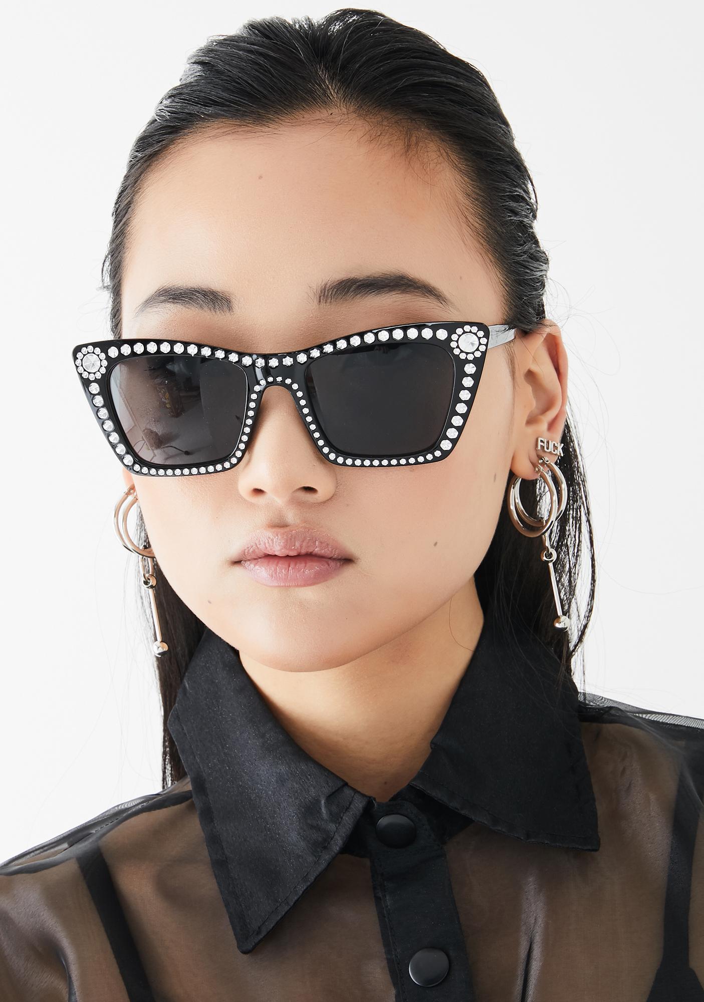 Sinful Something's Gotta Give Rhinestone Sunglasses