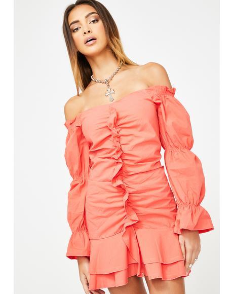Coral Way Dress