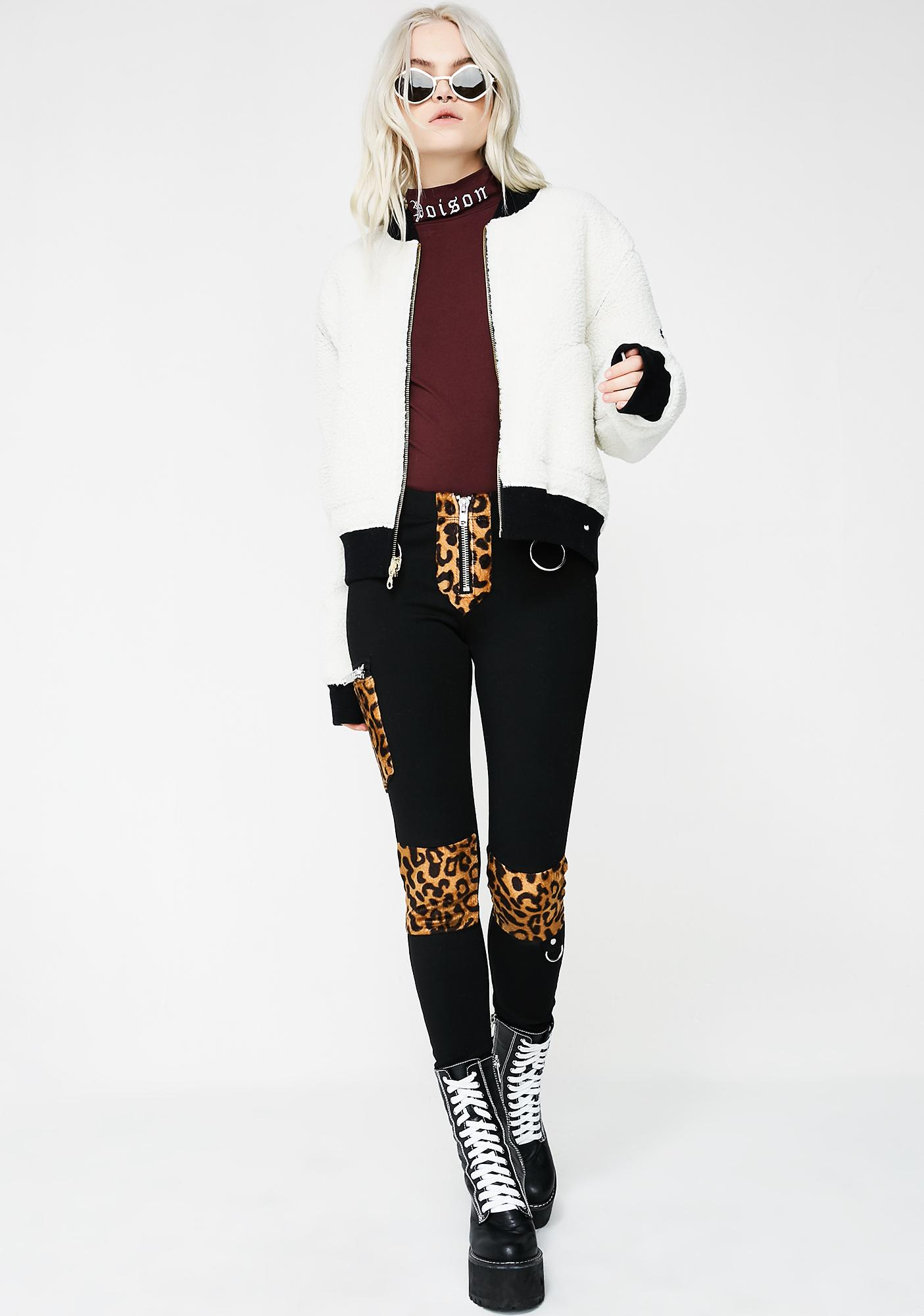 JUICY COUTURE Velour Sherpa Reversible Jacket
