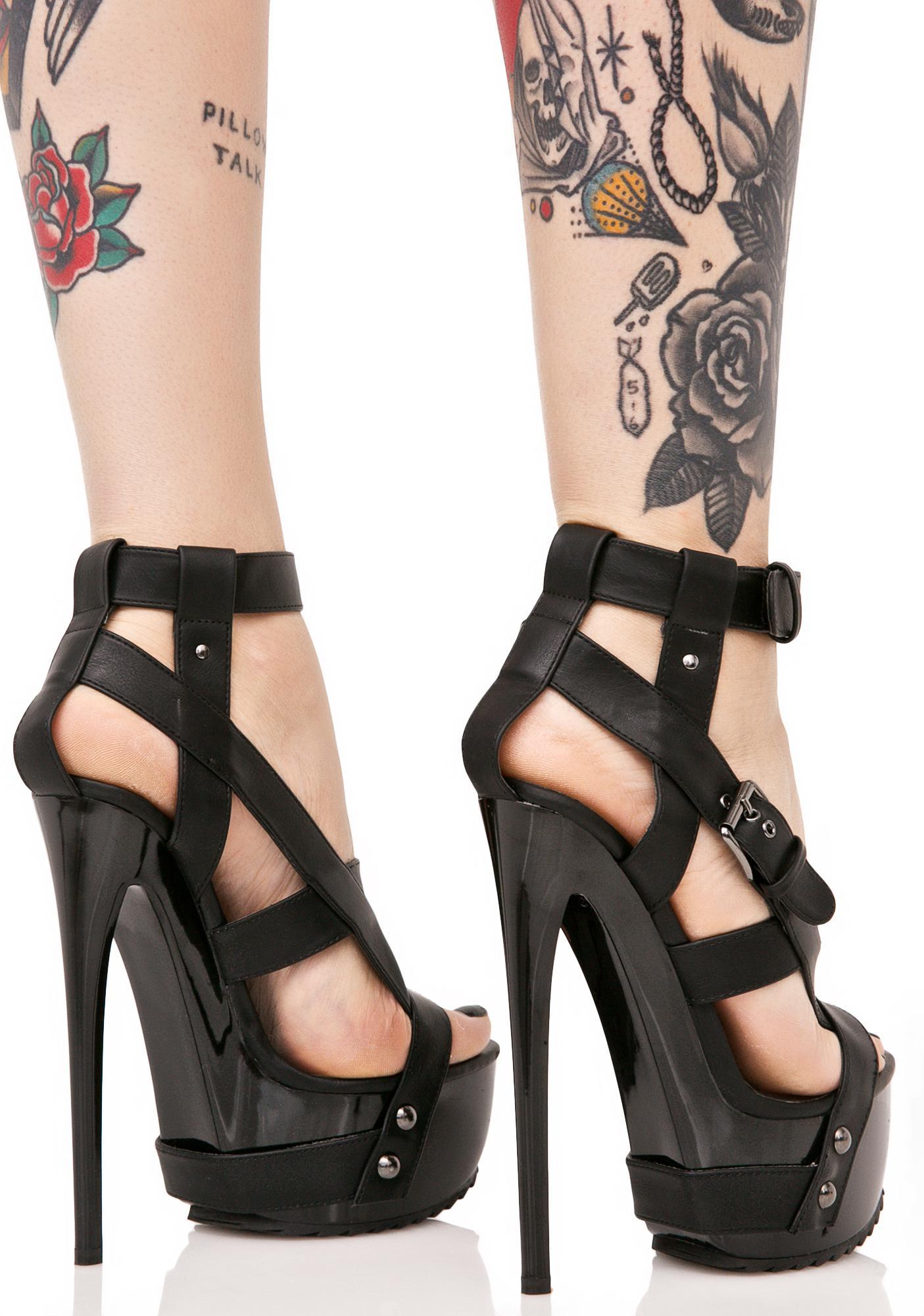 Y.R.U. X Buckled Heels