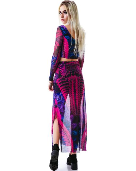 Germline Engineering Maxi Skirt