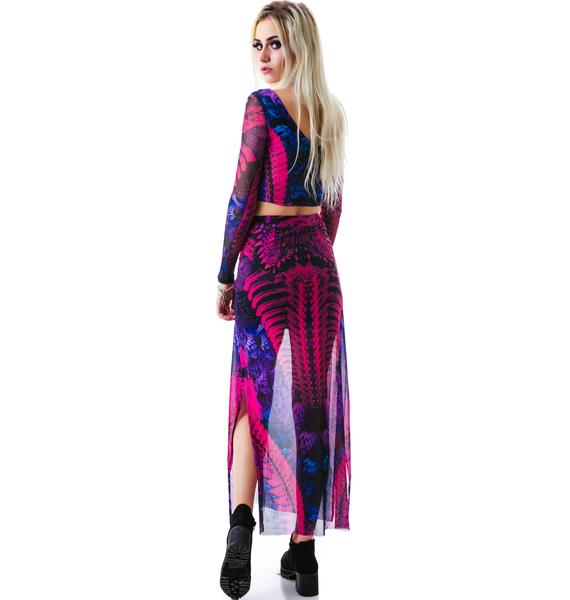 Lip Service Germline Engineering Maxi Skirt