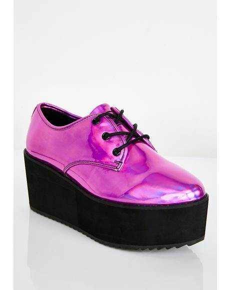 Pixie Stomp Lo Platform Oxfords