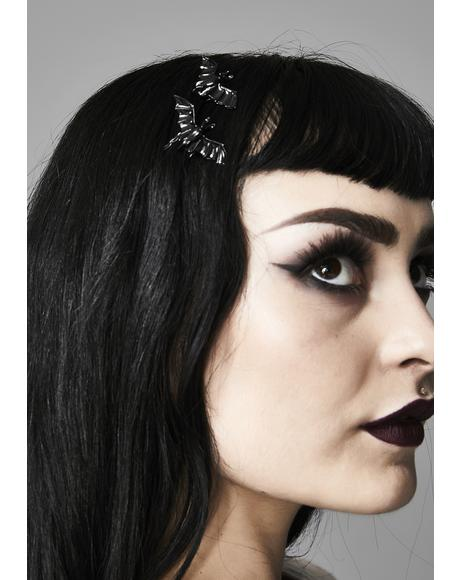 Veil Of Darkness Bat Bobby Pins