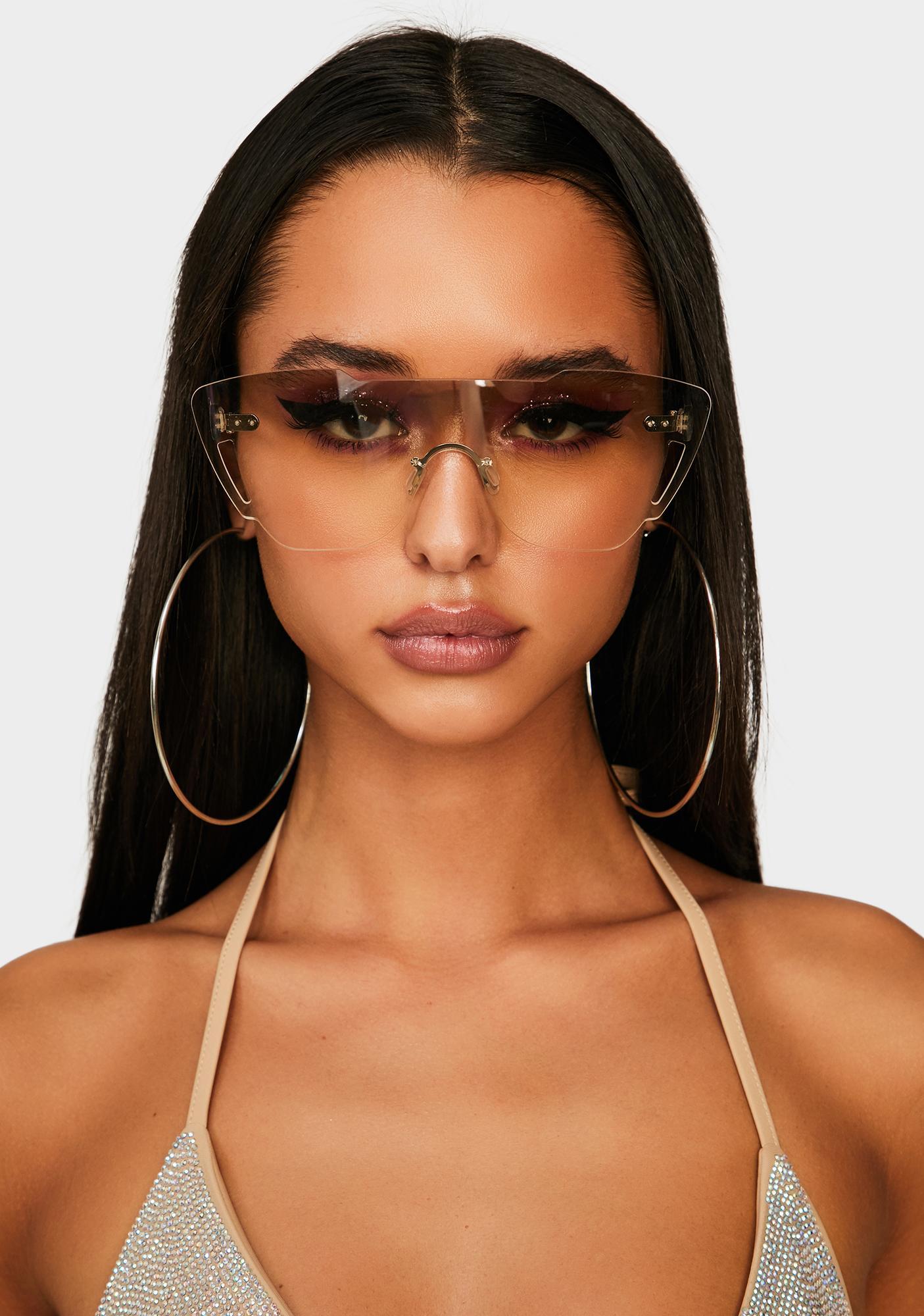 Crystal Keep It Kool Clear Sunglasses