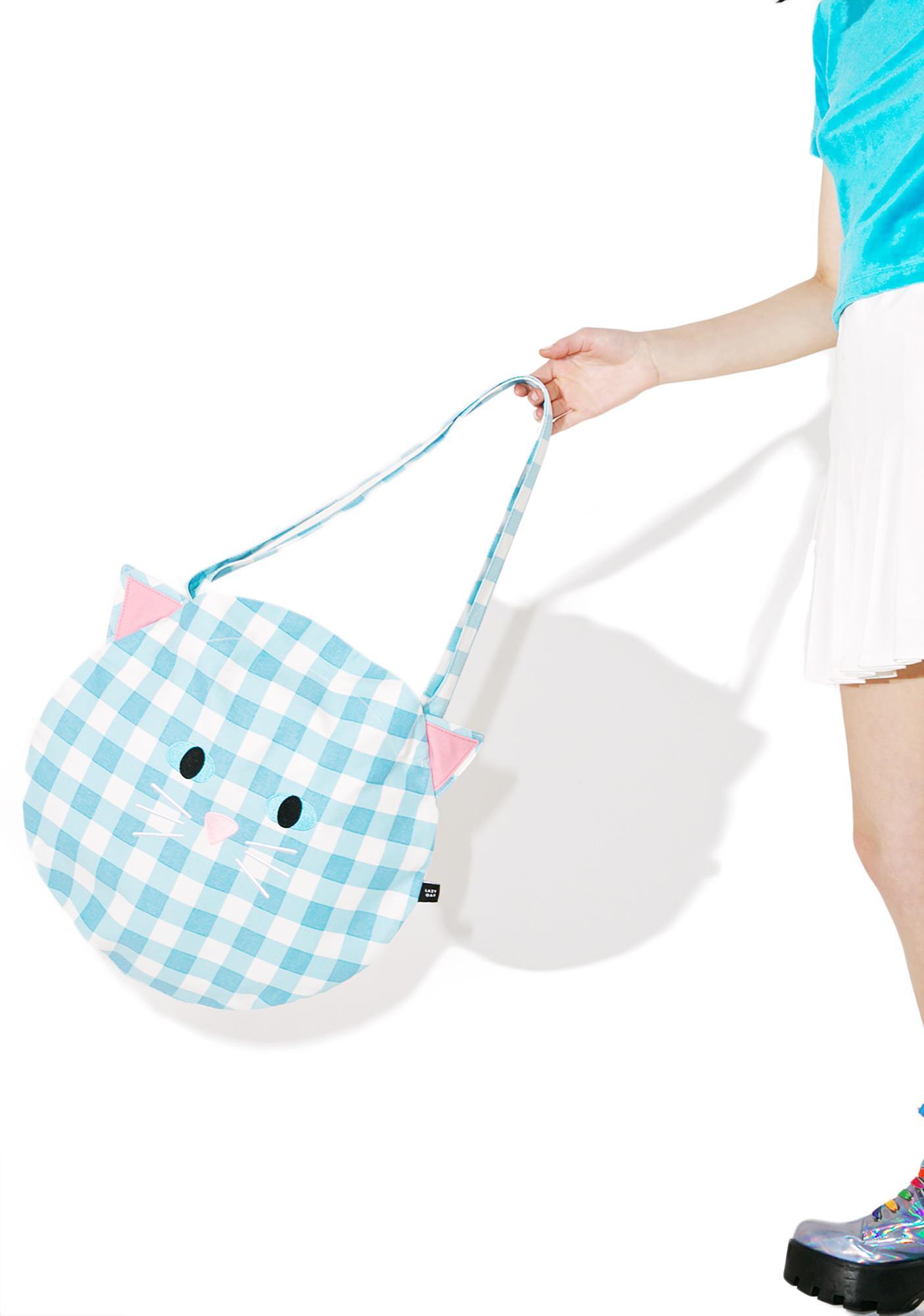 Lazy Oaf Cat Gingham Bag