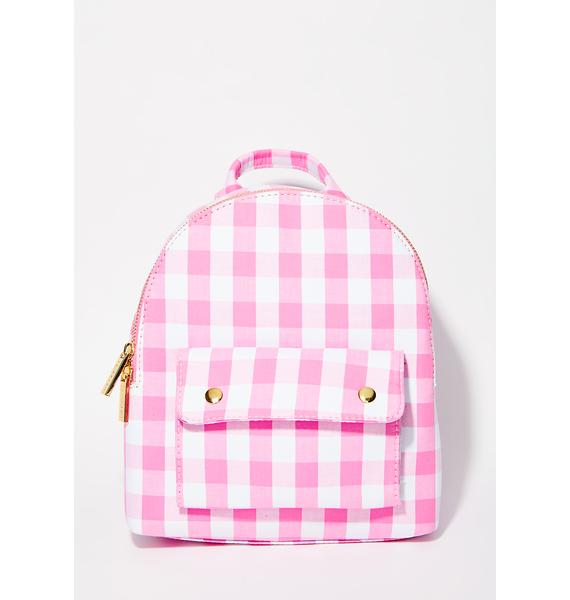 Skinnydip Gingham Backpack