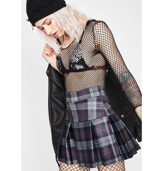 Stormy Wicked Scholar Plaid Skirt