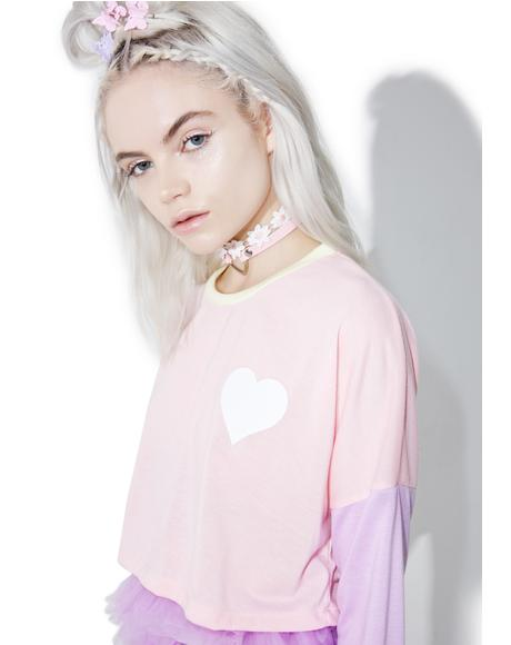 Sweet Magic Of Luv Crop Tee