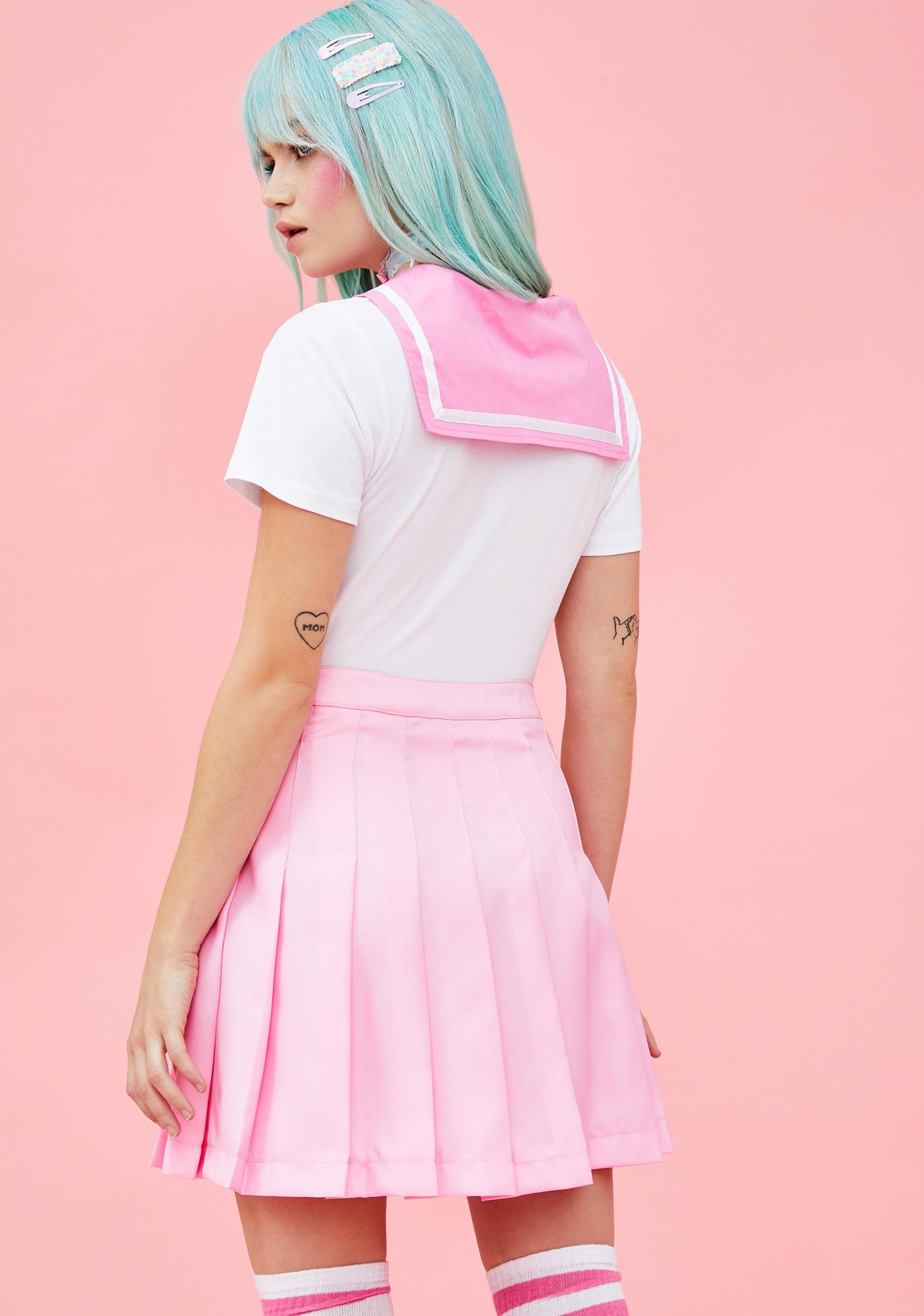88683eb837 Sugar Thrillz Pleated Mini Skirt Pink | Dolls Kill