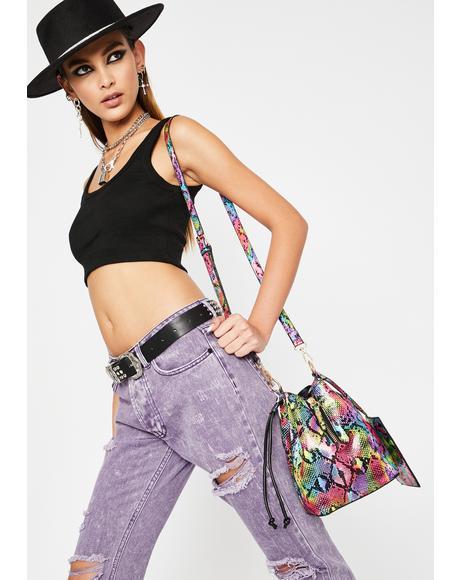 Poisonous Perception Bucket Bag