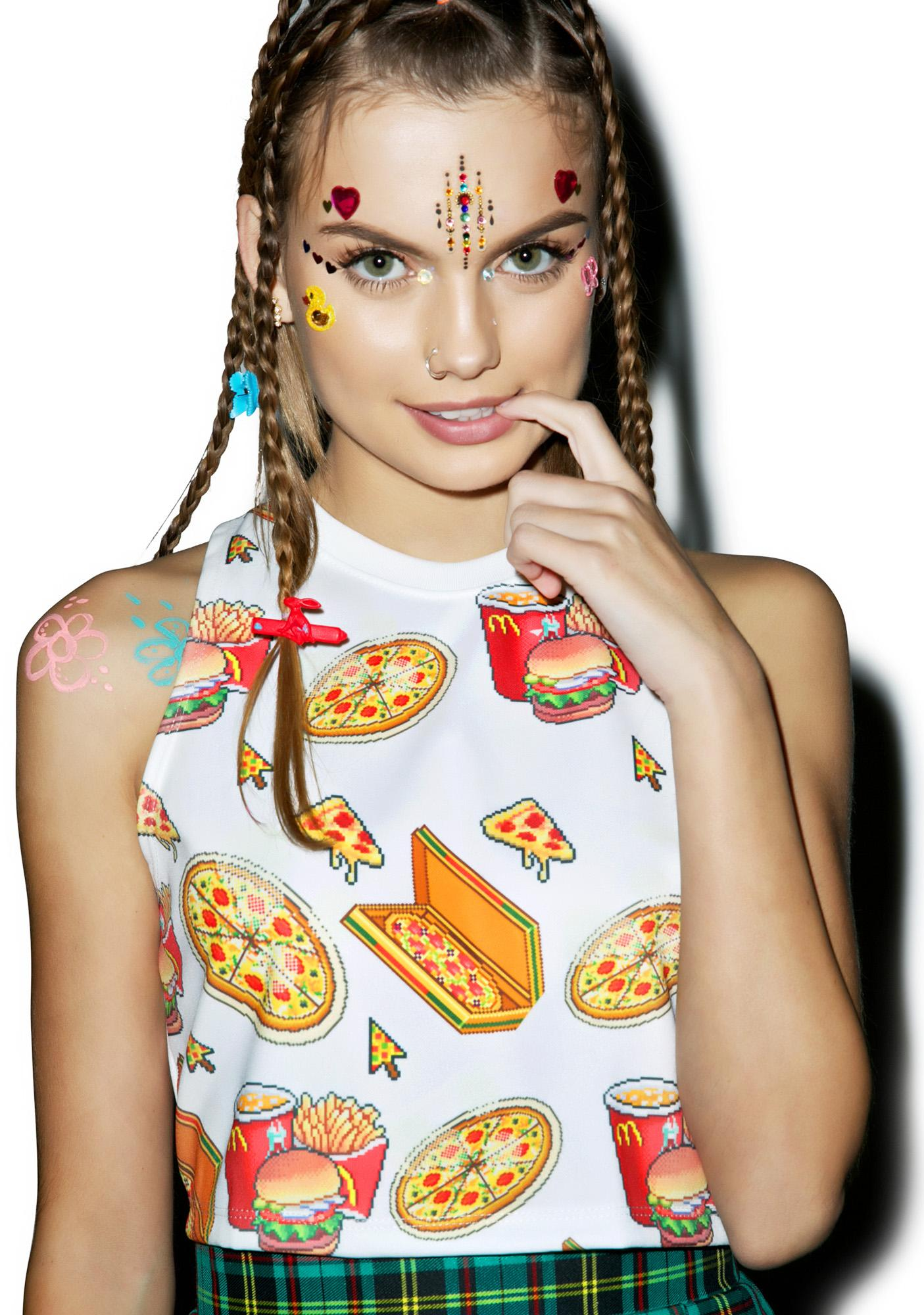 Fast Foodie Crop Tank Top