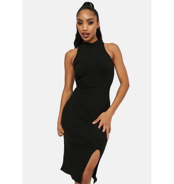 Name Drop Sleeveless Midi Dress