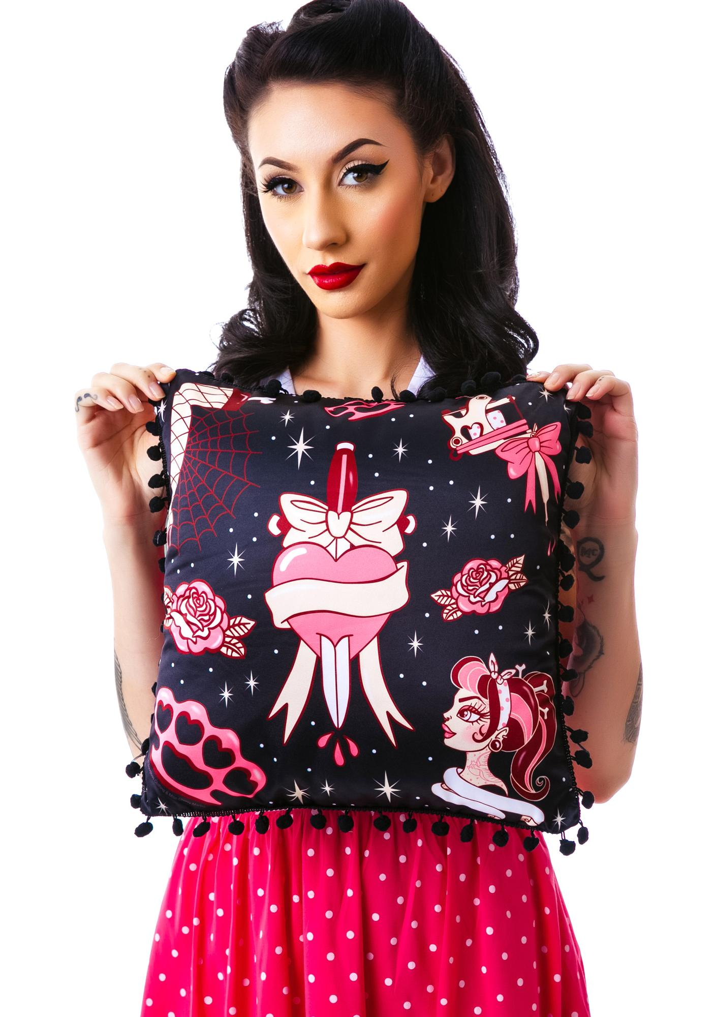 Sourpuss Clothing Tattoo Time Pillow