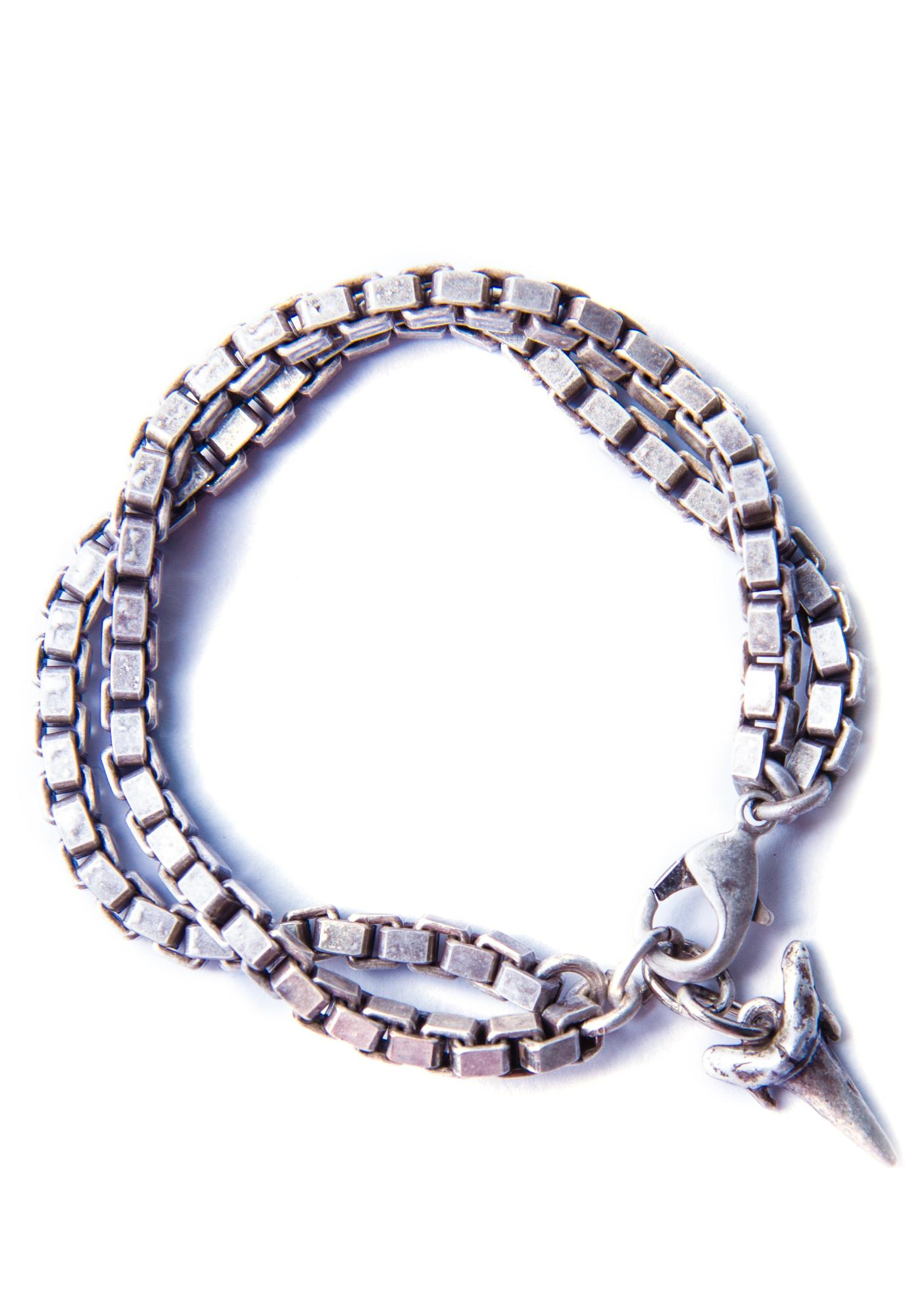 Luv AJ Shark Tooth Charm Bracelet